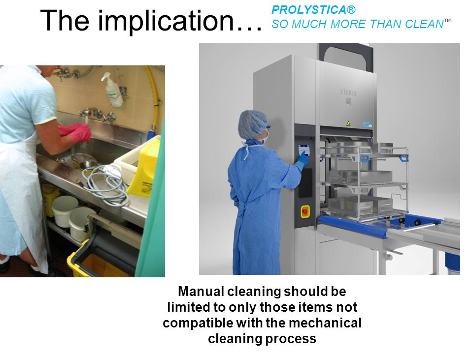 The implication… PROLYSTICA® SO MUCH MORE THAN CLEAN™