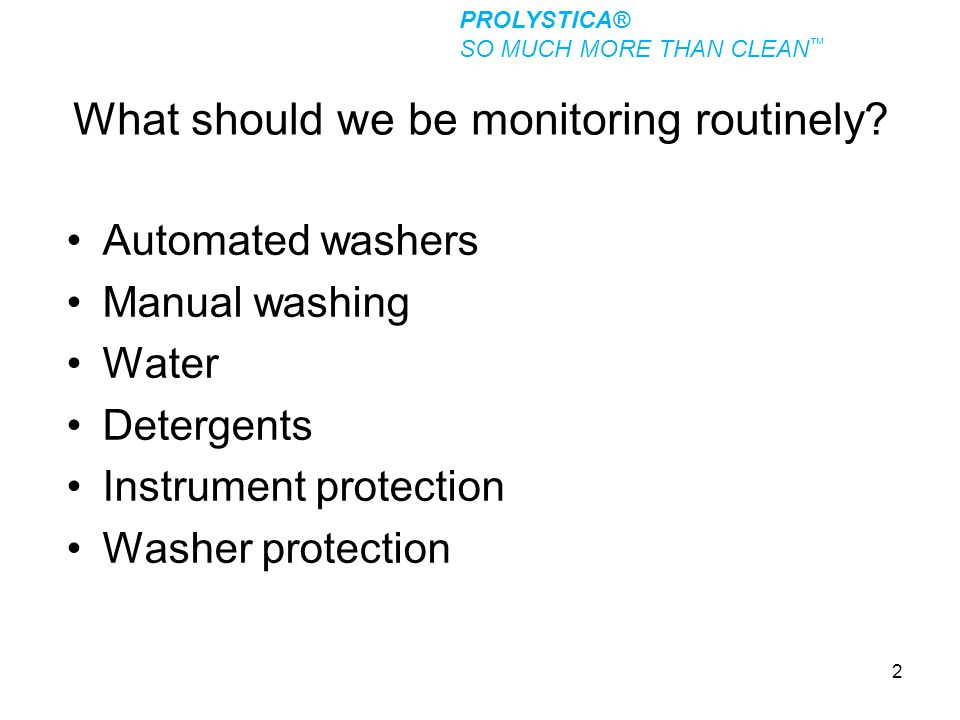 What should we be monitoring routinely