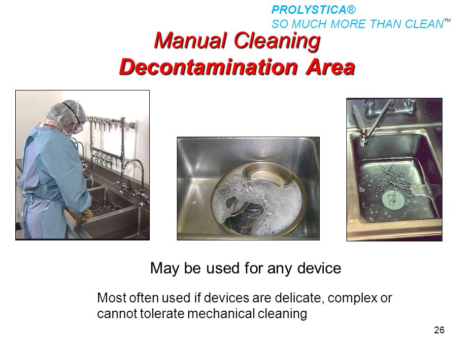 Manual Cleaning Decontamination Area