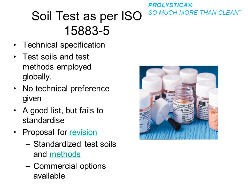 Soil Test as per ISO 15883-5 Technical specification