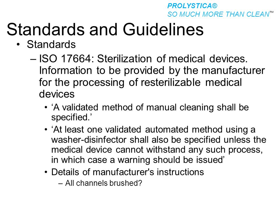 Standards and Guidelines
