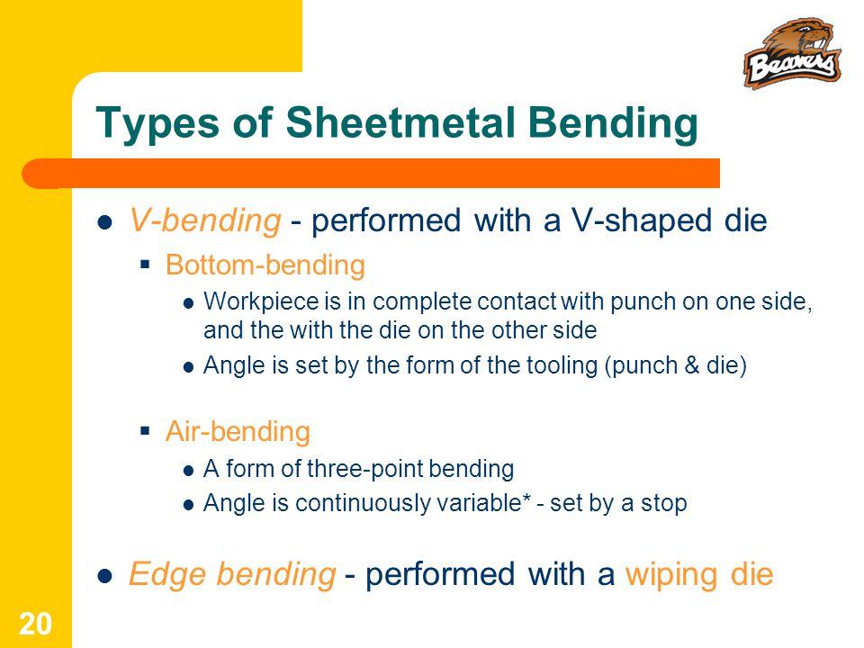 Types of Sheetmetal Bending