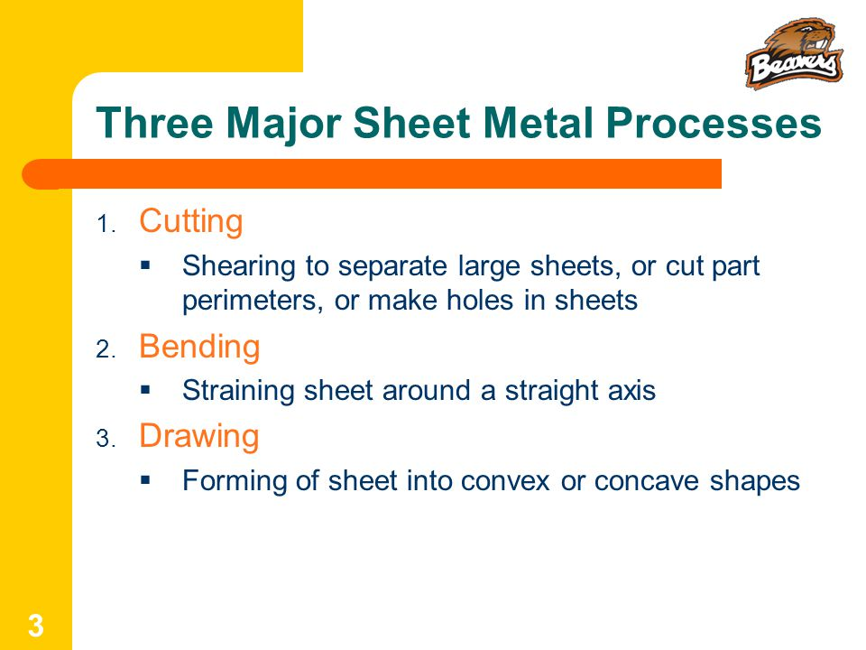 Three Major Sheet Metal Processes