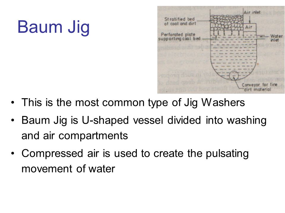 Baum Jig This is the most common type of Jig Washers