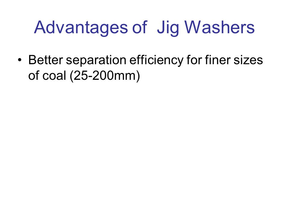 Advantages of Jig Washers