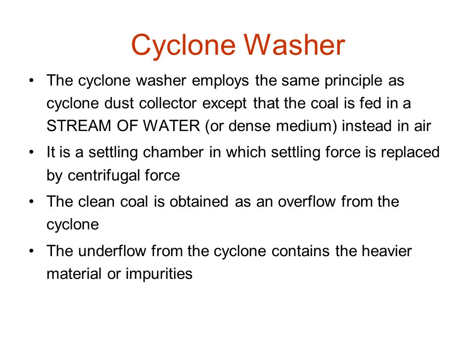 Cyclone Washer
