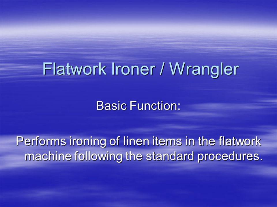 Flatwork Ironer / Wrangler