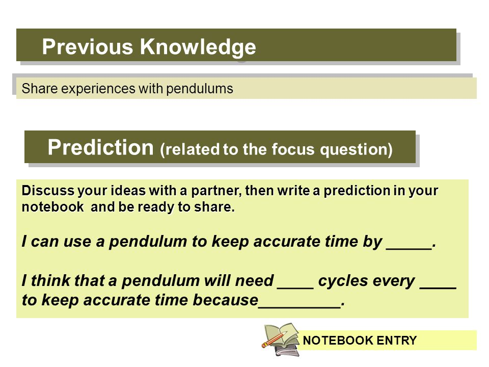 Previous Knowledge Prediction (related to the focus question)