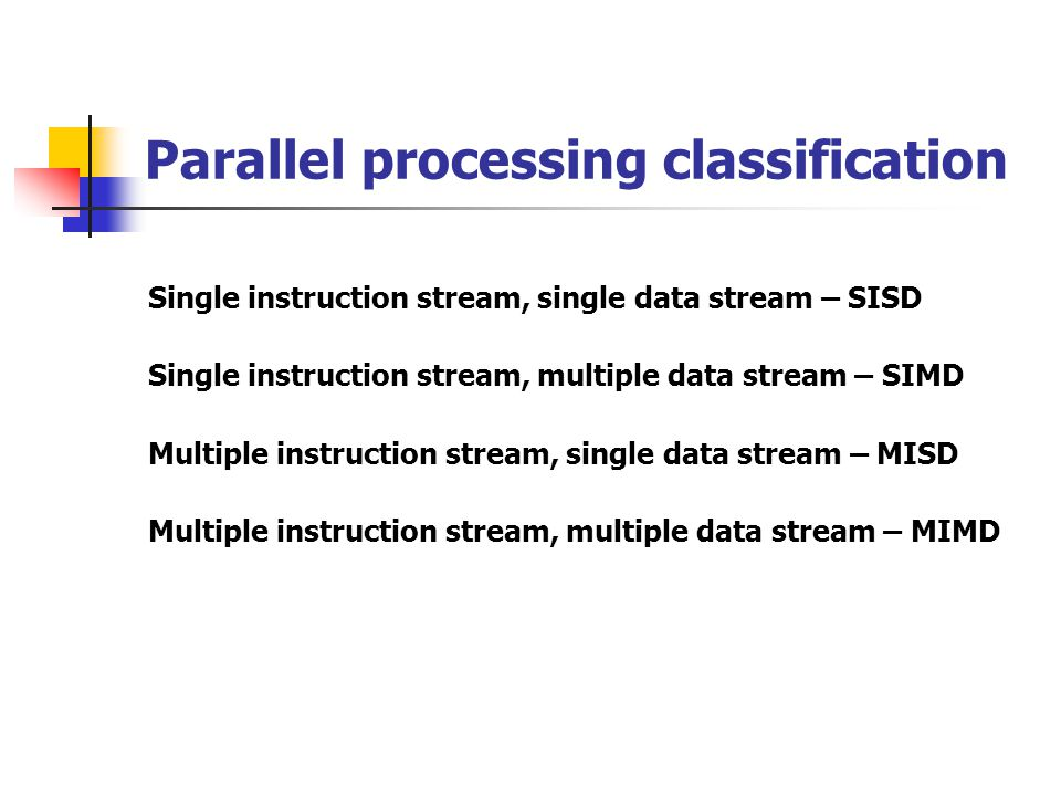 Parallel processing classification