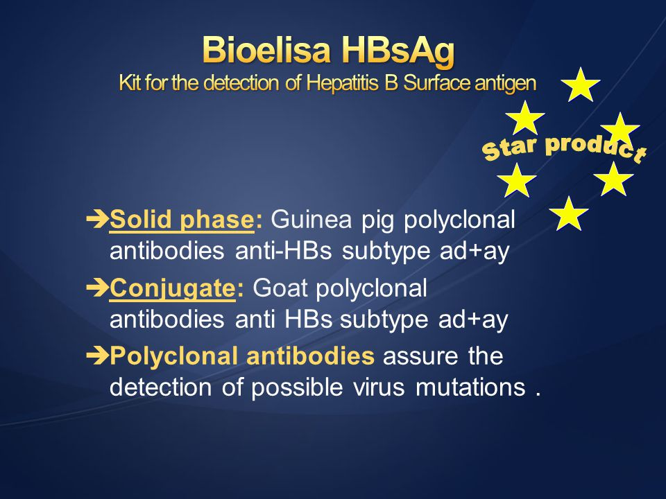 Kit for the detection of Hepatitis B Surface antigen