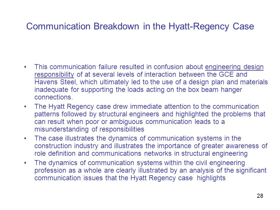 Communication Breakdown in the Hyatt-Regency Case