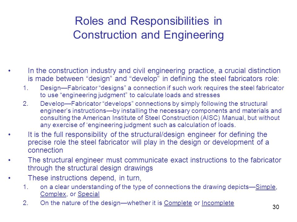 Roles and Responsibilities in Construction and Engineering