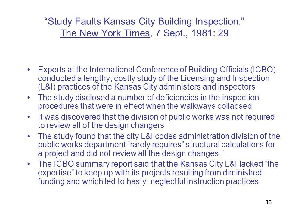 Study Faults Kansas City Building Inspection