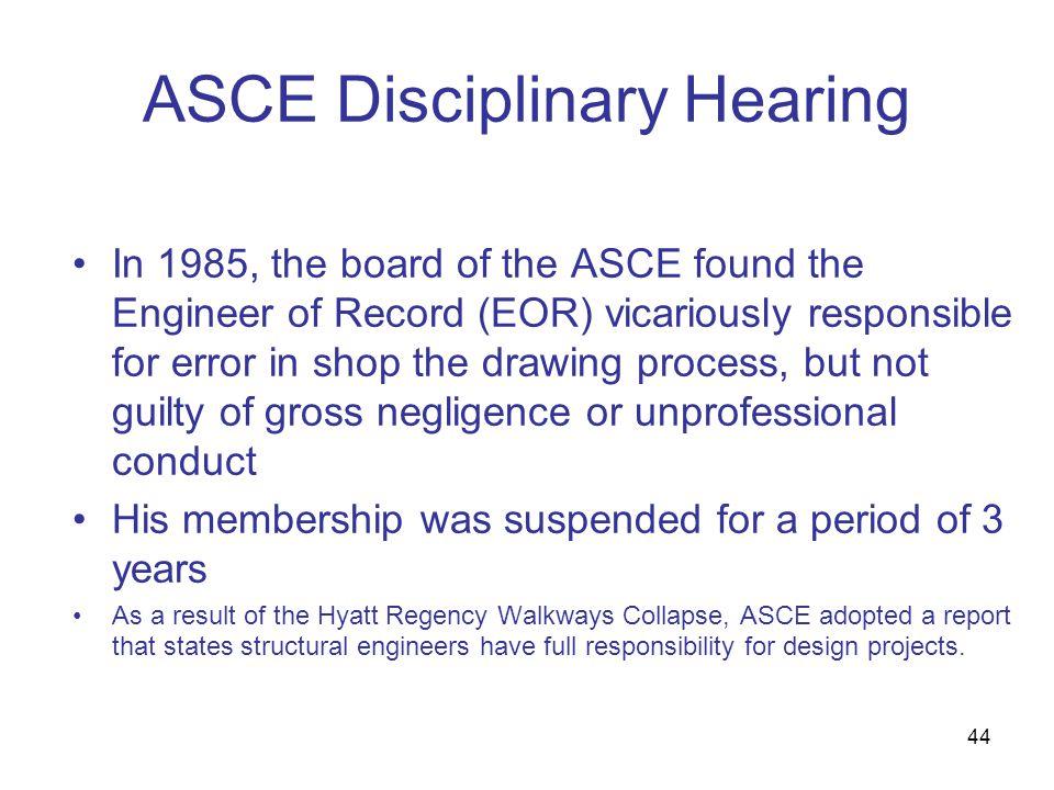 ASCE Disciplinary Hearing