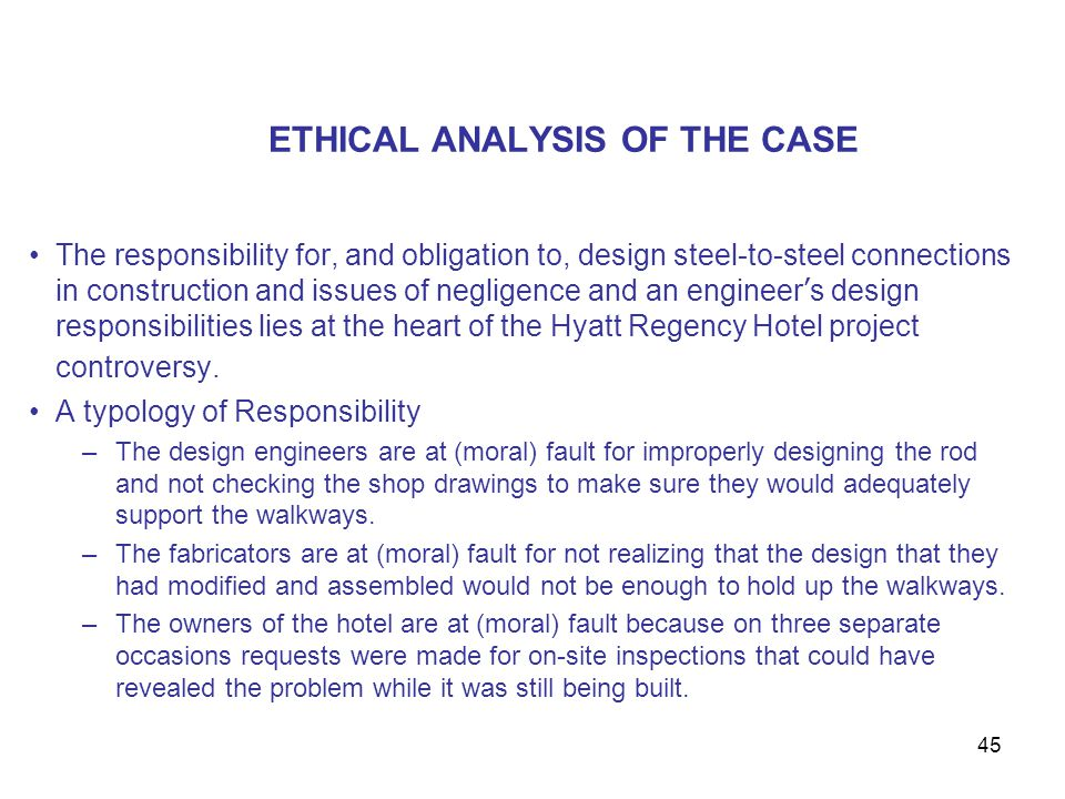 ETHICAL ANALYSIS OF THE CASE