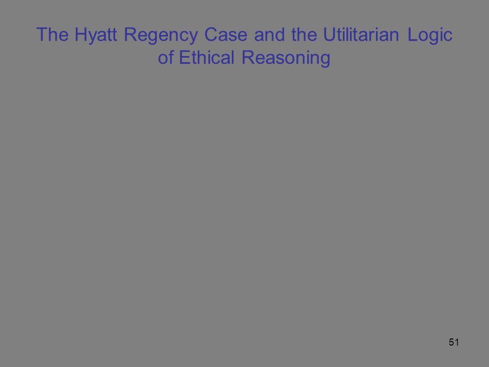 The Hyatt Regency Case and the Utilitarian Logic of Ethical Reasoning
