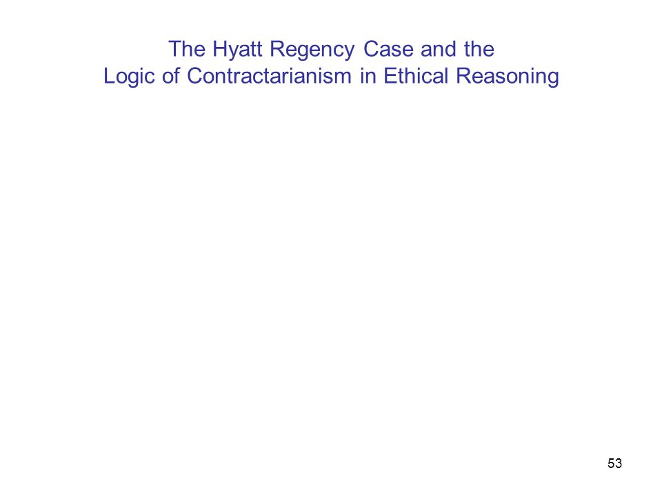 The Hyatt Regency Case and the Logic of Contractarianism in Ethical Reasoning