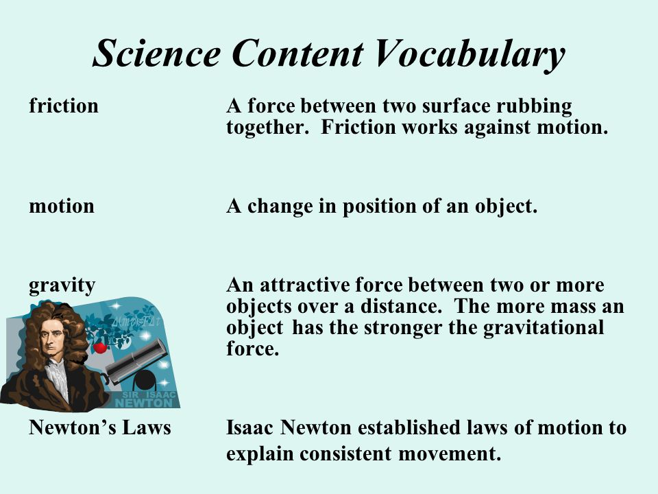 Science Content Vocabulary