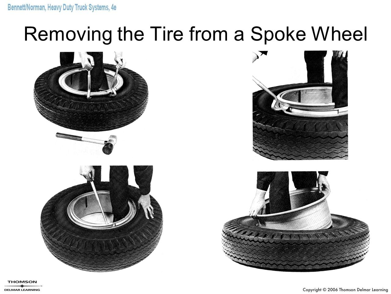 Removing the Tire from a Spoke Wheel