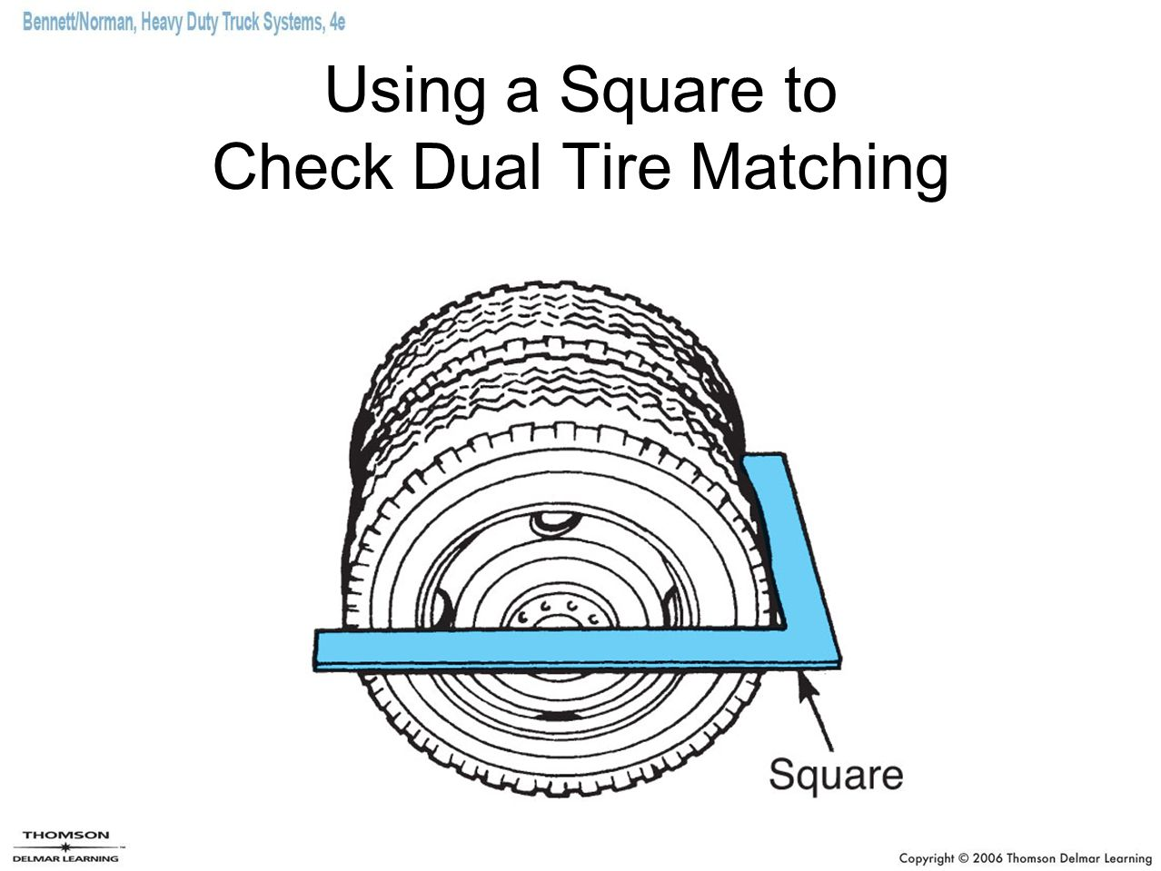 Using a Square to Check Dual Tire Matching