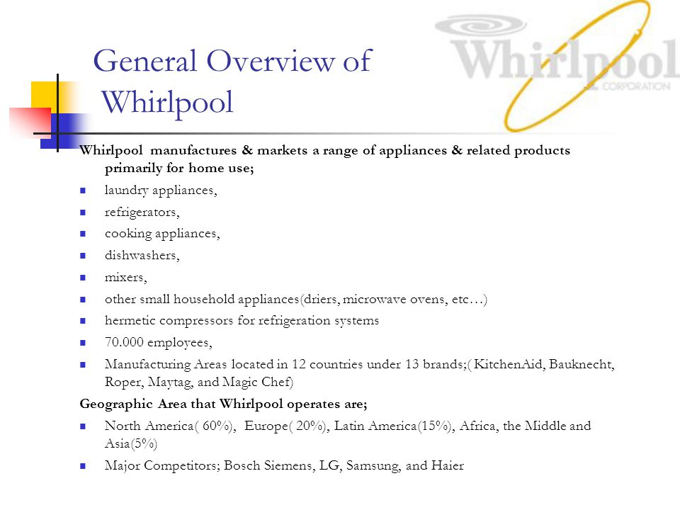 General Overview of Whirlpool