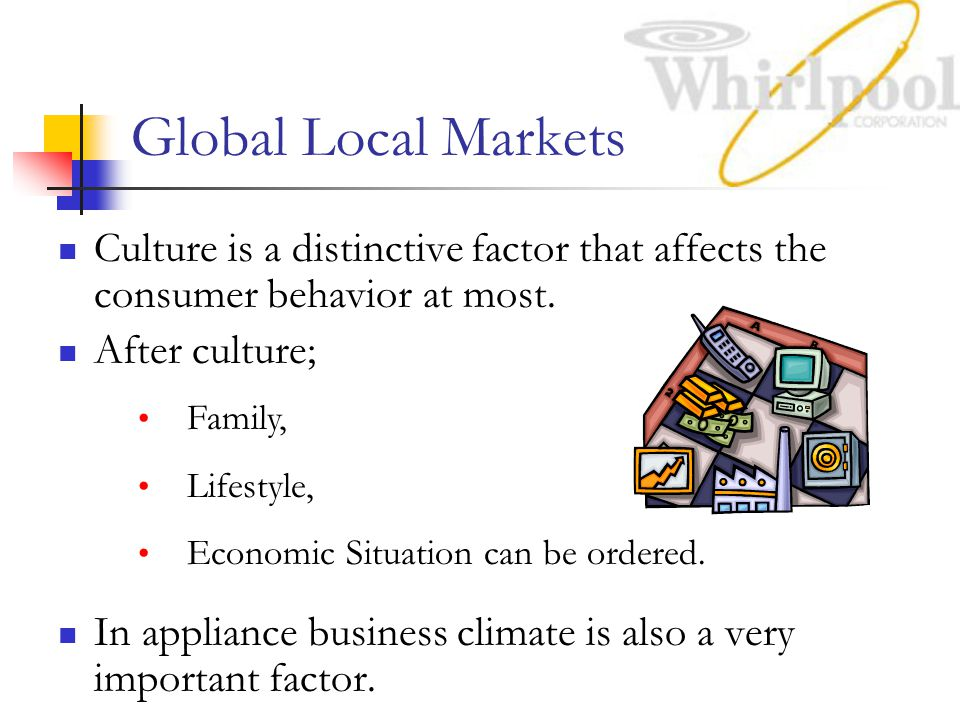 Global Local Markets Culture is a distinctive factor that affects the consumer behavior at most. After culture;