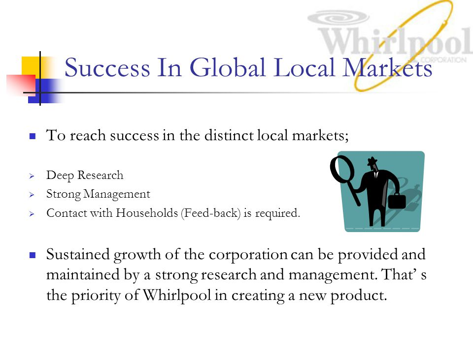 Success In Global Local Markets