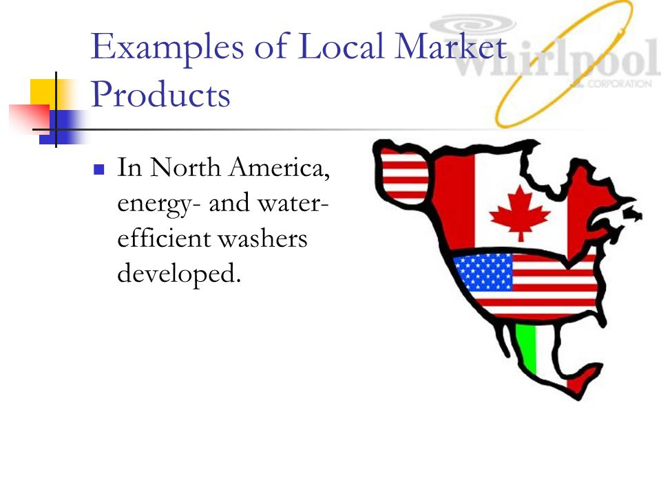 Examples of Local Market Products