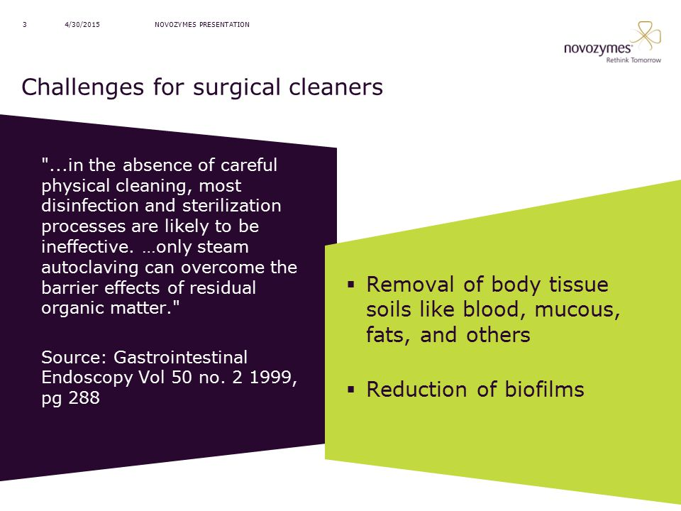 Challenges for surgical cleaners