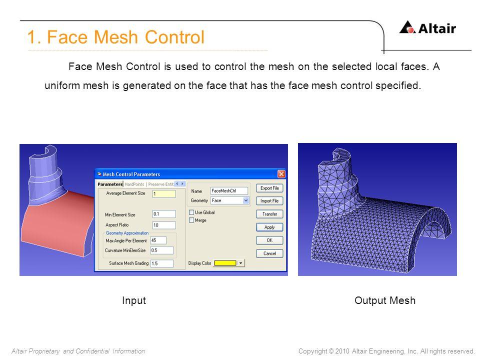 1. Face Mesh Control