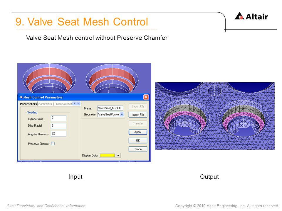 9. Valve Seat Mesh Control
