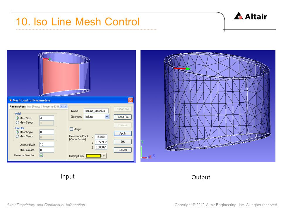 10. Iso Line Mesh Control Input Output
