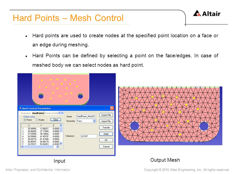 Hard Points – Mesh Control