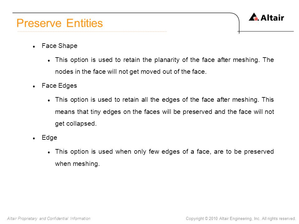 Preserve Entities Face Shape