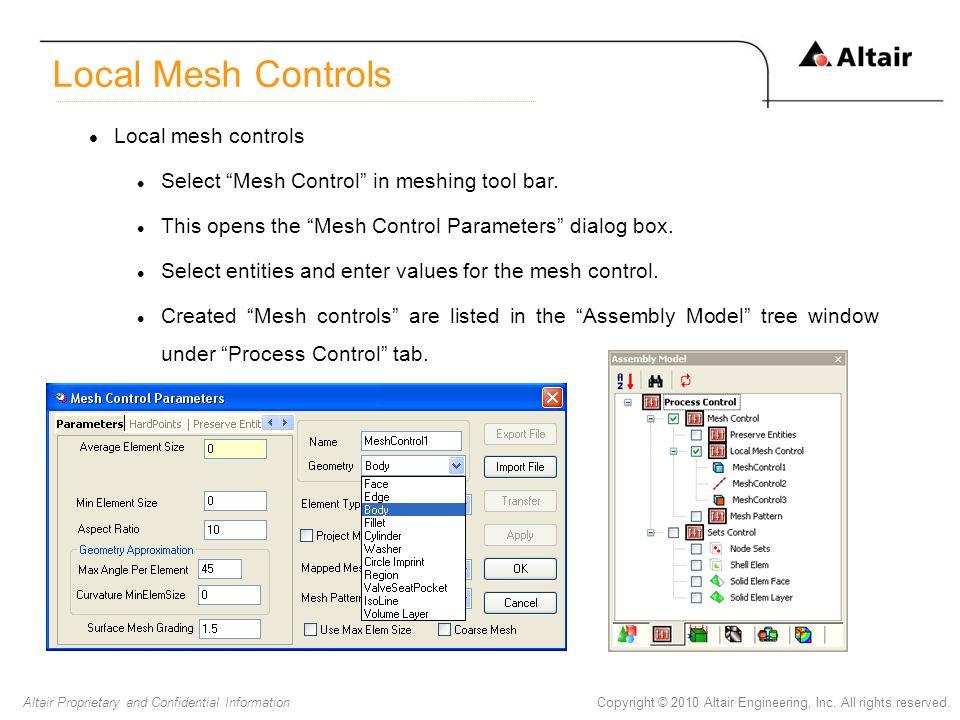 Local Mesh Controls Local mesh controls