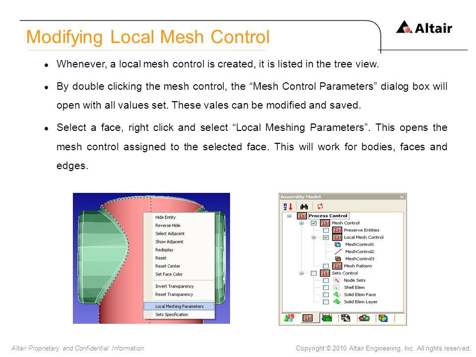 Modifying Local Mesh Control
