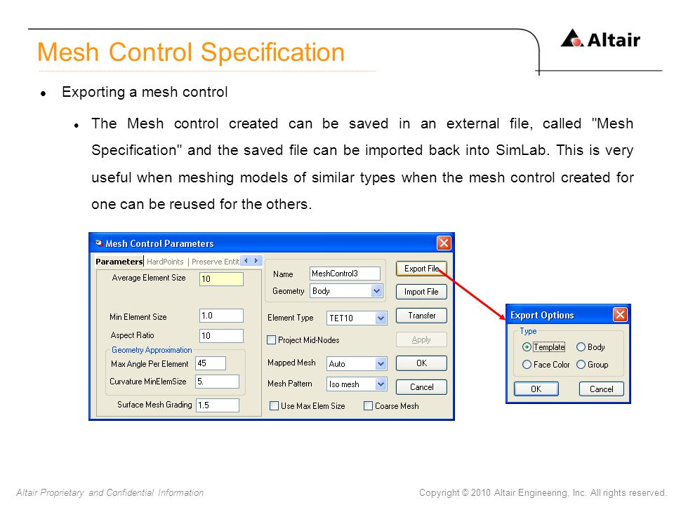 Mesh Control Specification