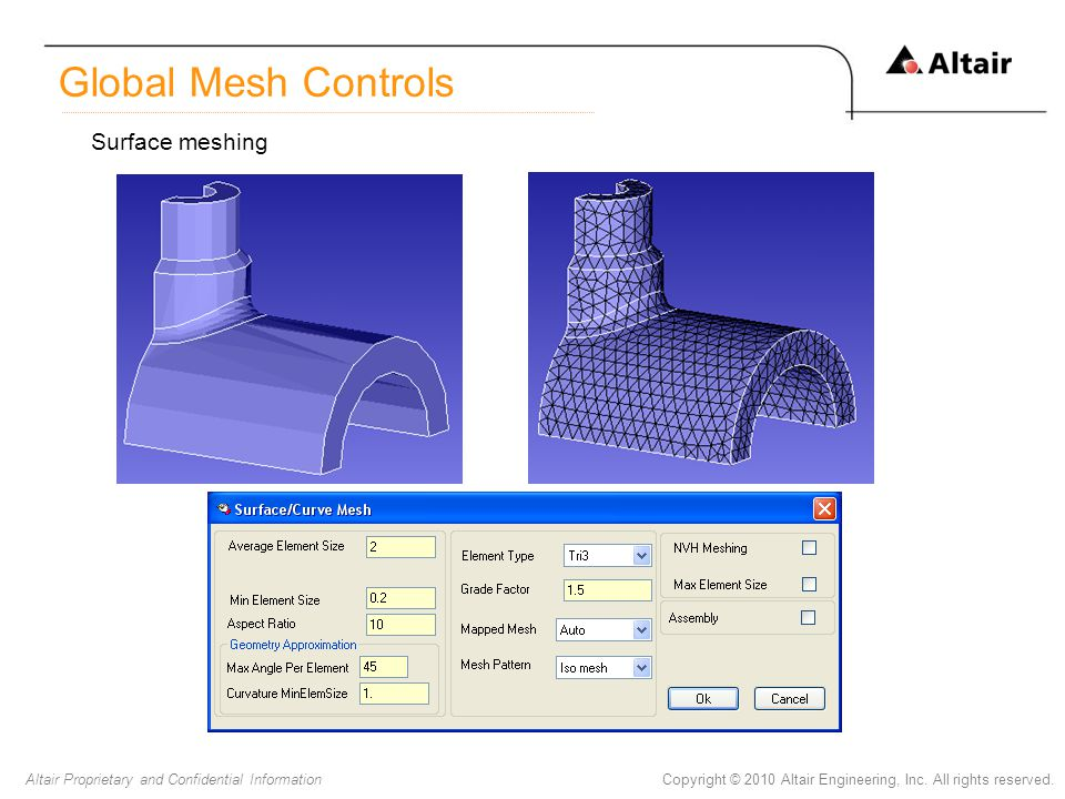 Global Mesh Controls Surface meshing