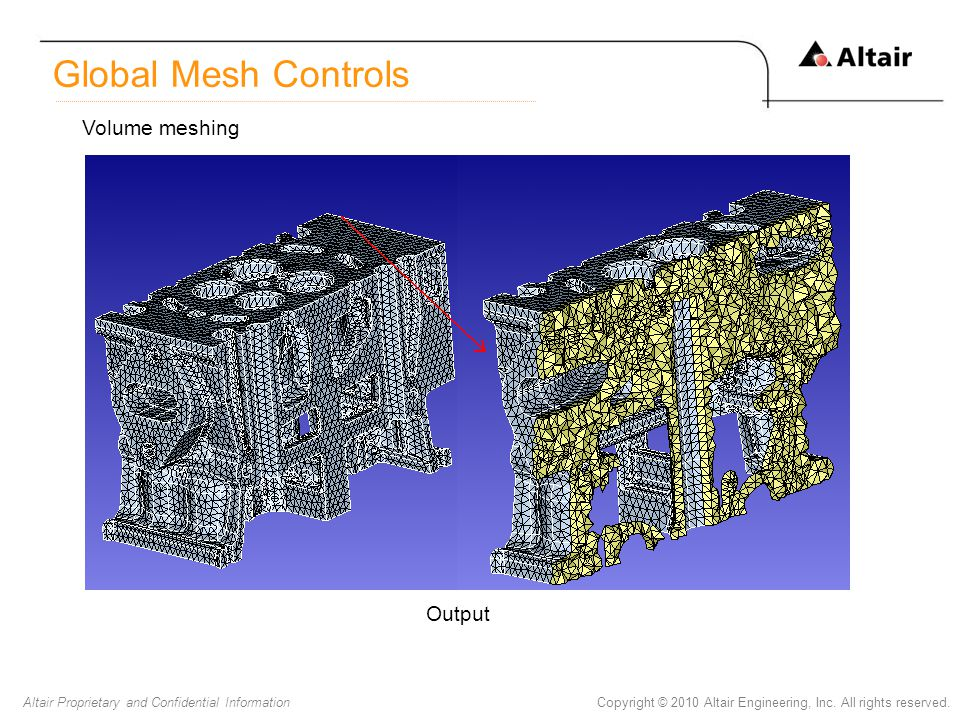 Global Mesh Controls Volume meshing Output