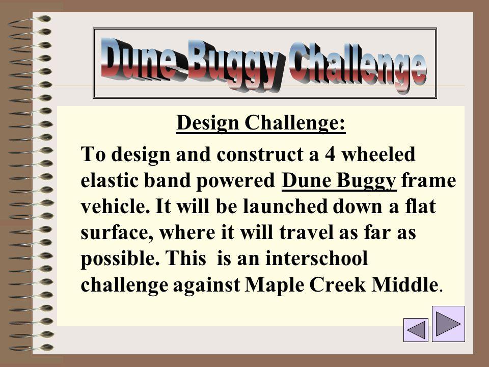 Dune Buggy Challenge Design Challenge: