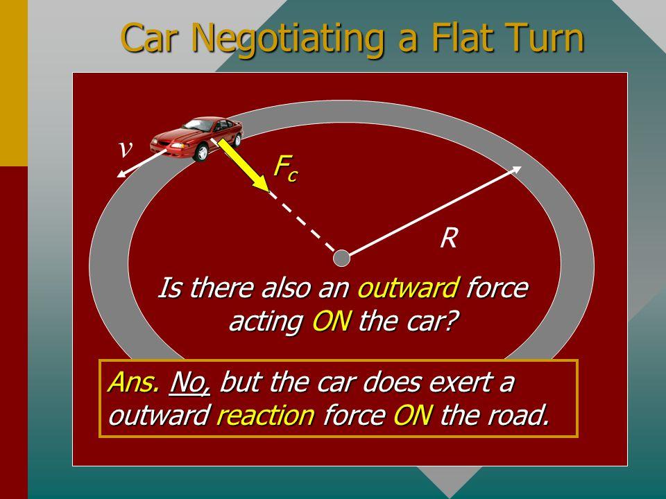 Car Negotiating a Flat Turn