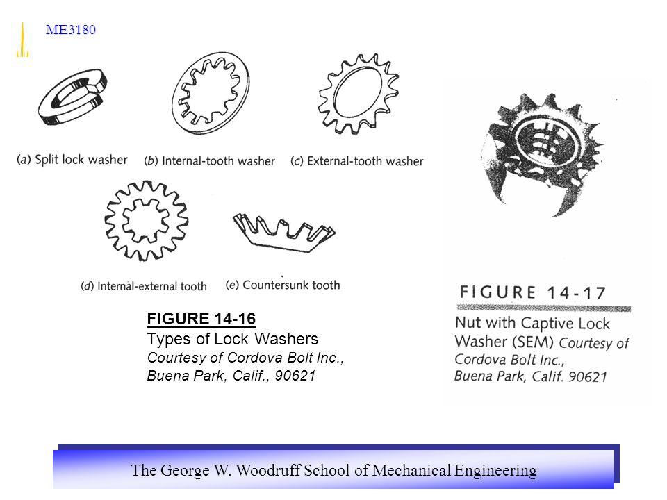 FIGURE 14-16 Types of Lock Washers Courtesy of Cordova Bolt Inc.,