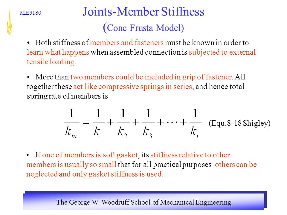 Joints-Member Stiffness (Cone Frusta Model)