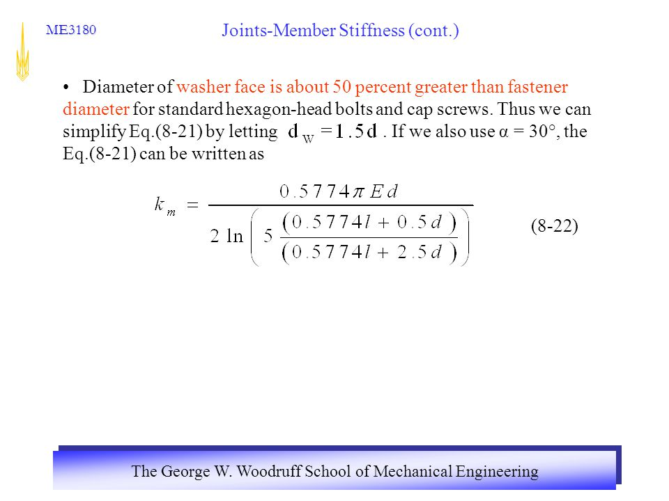 Joints-Member Stiffness (cont.)