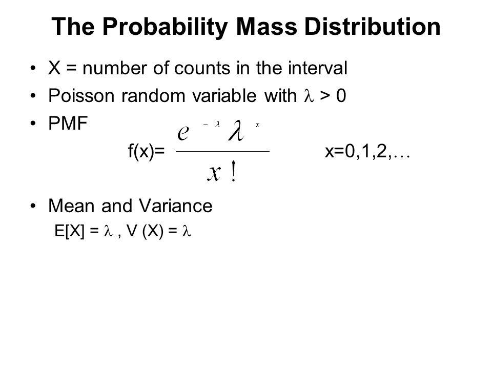 The Probability Mass Distribution