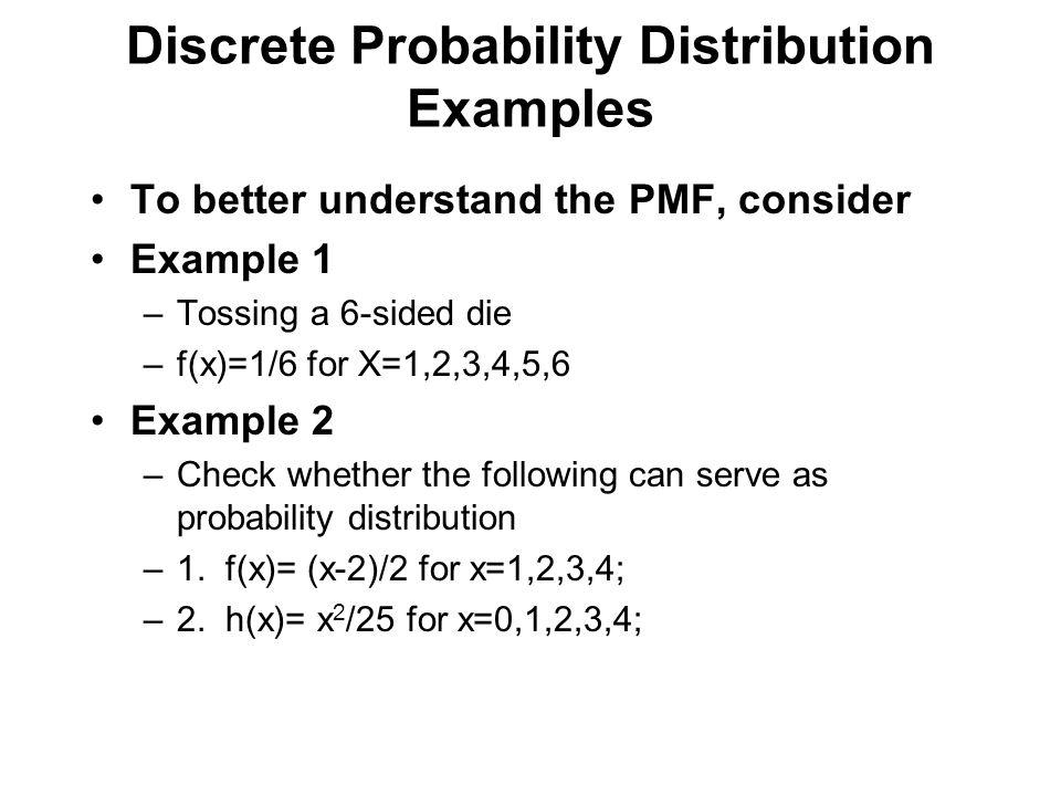 Discrete Probability Distribution Examples