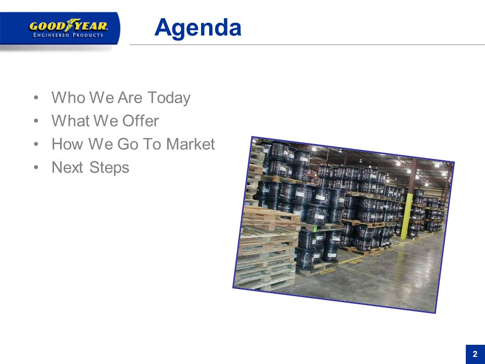 Agenda Who We Are Today What We Offer How We Go To Market Next Steps