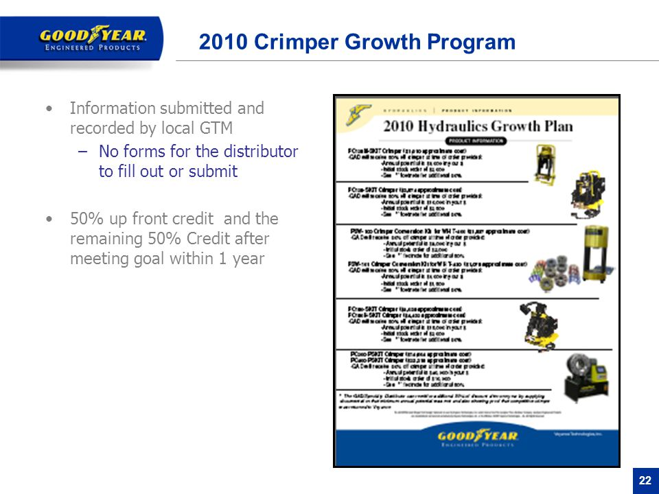 2010 Crimper Growth Program