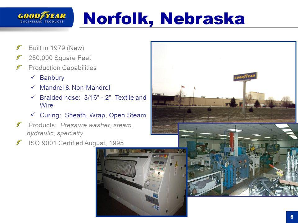 Norfolk, Nebraska Built in 1979 (New) 250,000 Square Feet