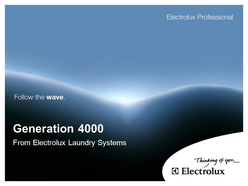 From Electrolux Laundry Systems